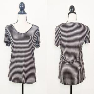 NWT Hayden Los Angeles Striped V-Neck Tee Shirt